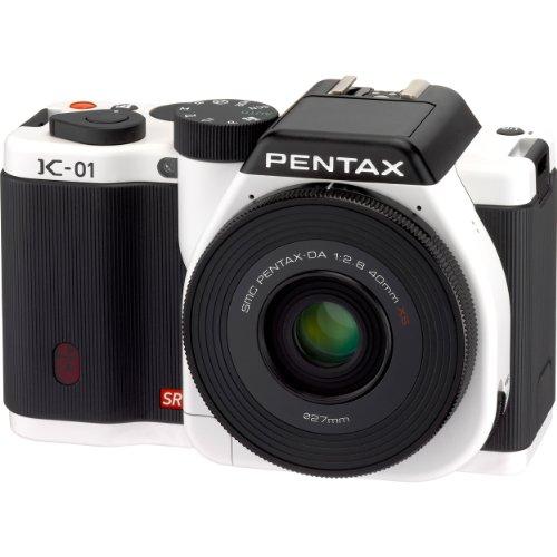 ペンタックス K01 ホワイトブラック レンズキット DA 40mm F2.8 XS