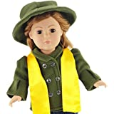 "Tailored Jacket and Hat Outfit - 18 Inch Doll Clothes/clothing Fits American Girl and Other 18"" Dolls - Plus Acccesories"