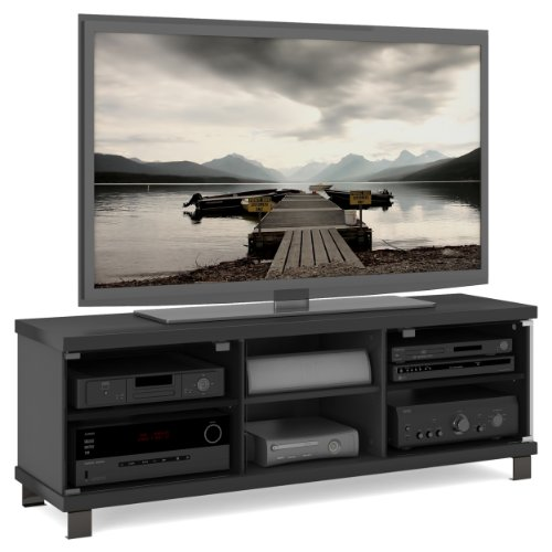 Sonax HC-5590 Holland TV Stand, Midnight Black