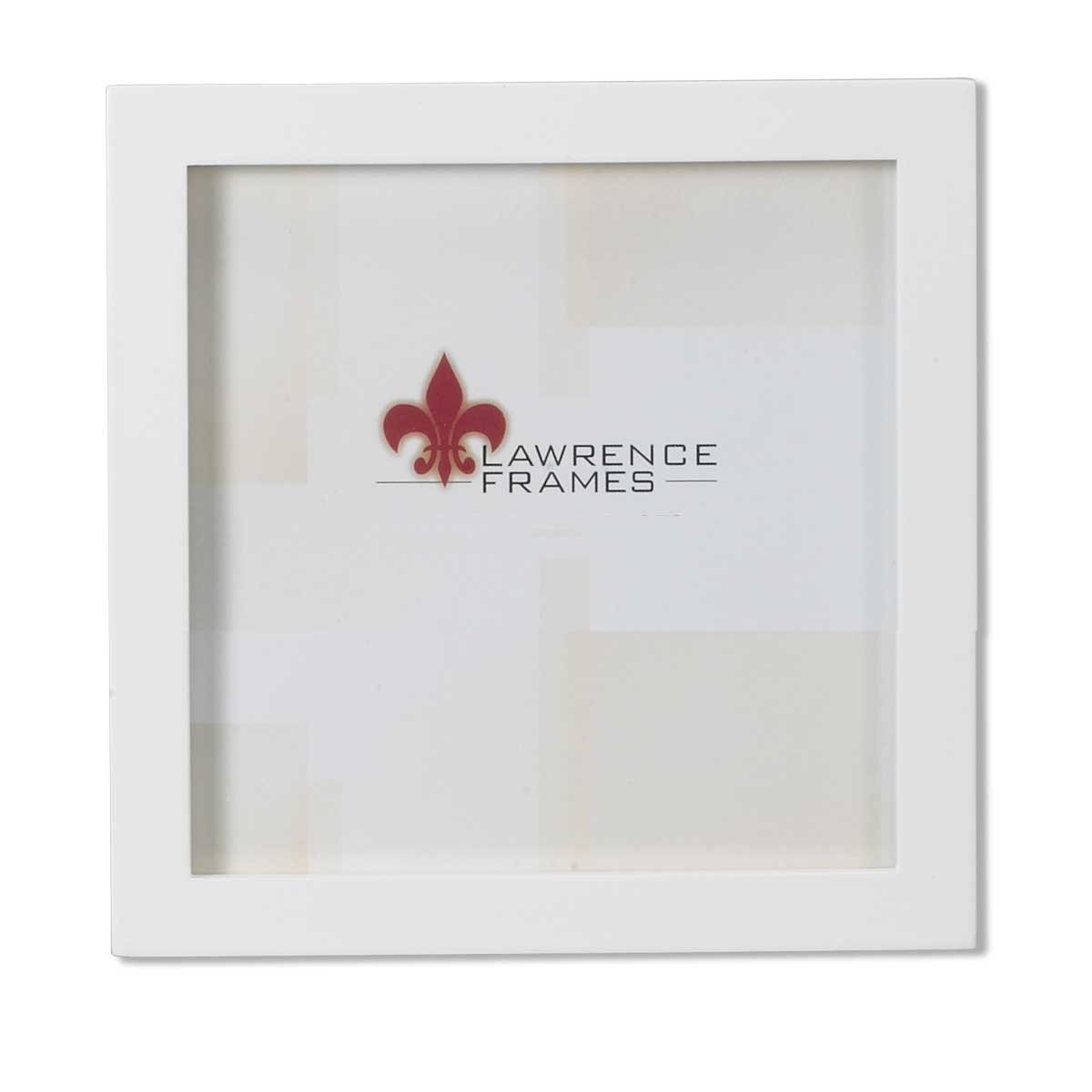 lawrence frames white wood picture frame gallery collection 5 by 5 inch