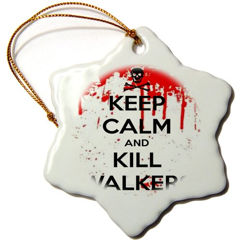 KC  Zombie Snowflake Porcelain Ornament