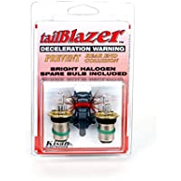 Motorcycle Brake Light Flashing Deceleration Warning 20W-D2Pak, Direct Replacement for OEM 1157 Bulb, includes Spare Halogen Bulbs, USA & CA legal tailBlazer by Kisan