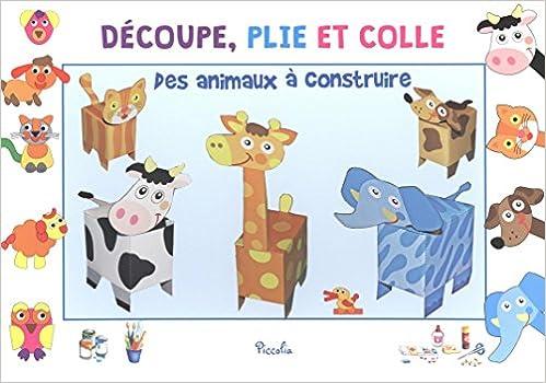 Lire un Des animaux à construire : 5 animaux en 3D et des puzzles animaux à réaliser pdf epub