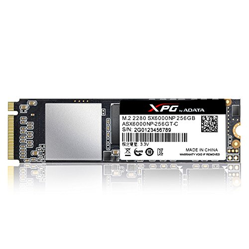 ADATA XPG SX6000 PCIe 256GB 3D NAND PCIe Gen3x2 M.2 2280 NVMe 1.2 R/W up to 1000/800MB/s Solid State Drive - Express Overclocking Pci