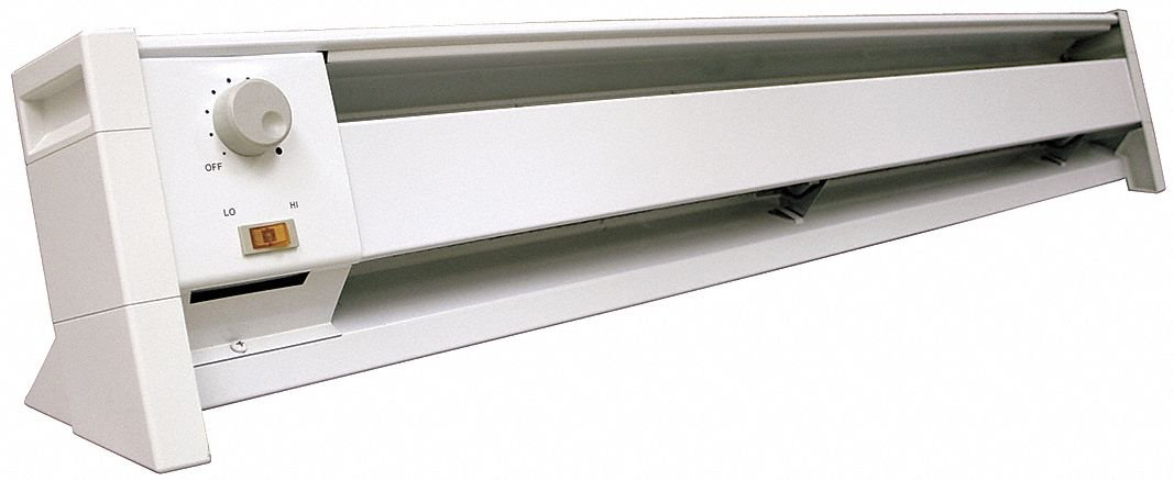 Dayton 45 X 5 1 2 X 7 1 2 Convection Electric Baseboard Heater White 120vac Industrial Scientific