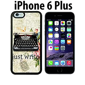 Vintage Type Writer Quote Custom made Case/Cover/skin FOR iPhone 6 Plus - Black - Rubber Case ( Ship From CA)