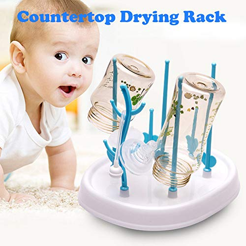 DEESEE(TM)Bottle Drying Rack Easy to Clean Baby Bottles Dryer Healthy Materials Baby Bottle Rack
