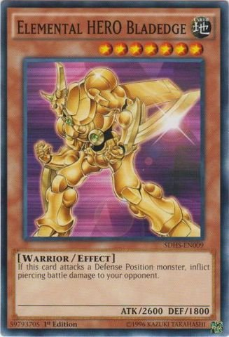 Yu-Gi-Oh! - Elemental HERO Bladedge (SDHS-EN009) - Structure Deck: HERO Strike - 1st Edition - ()