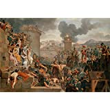 Canvas Prints Of Oil Painting ' Caraffe, Armand-Charles_1805(b)_Metellus Raising The Siege' 10 x 15 inch / 25 x 38 cm , High Quality Polyster Canvas Is For Gifts And Garage, Gym And Kitchen Decoration