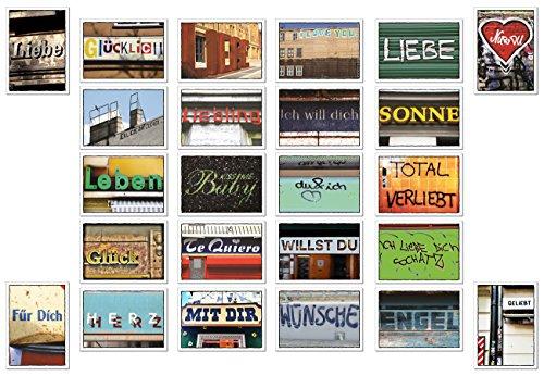 Postkarten Set / Karten Set - 24 Stück - Nr 4 -