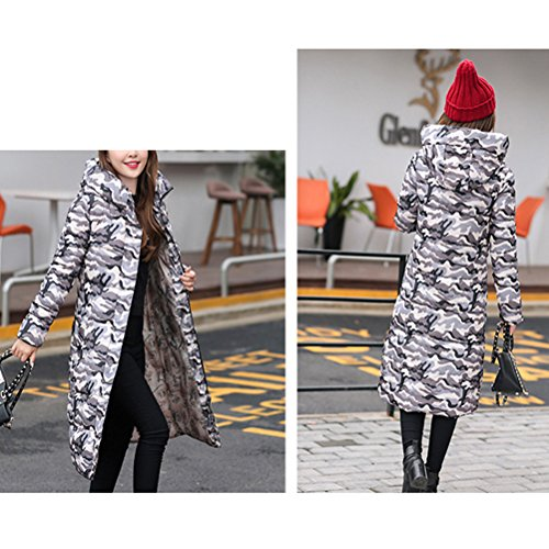 Slim Style Gray Jacket Coat Korean Di Cappotto Down Long Thin Female Hooded Cotton Moda Zhhlaixing TPZwRv