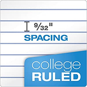 "TOPS 1-Subject Notebooks, Spiral, 8"" x 10-1/2"", College Rule, Color Assortment May Vary, 70 Sheets, 6 Pack (65007)"