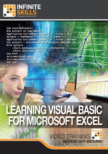 Learning Visual Basic for Microsoft Excel [Online Code] by Infiniteskills