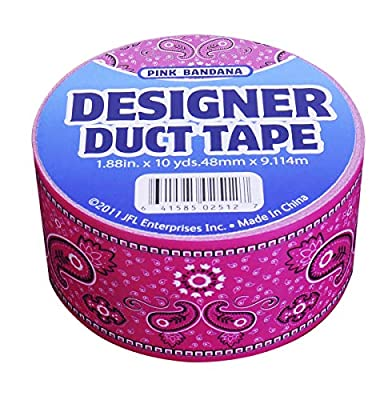 """Duct Tape 2534 1.88"""" x 10 yd Pink Bandna Roll, Multicolor by Duct Tape"""