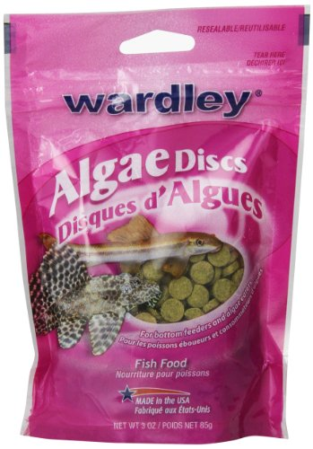 HARTZ Wardley Algae Discs Fish Food for Bottom and Algae Eaters - 3oz