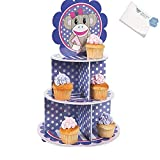 Bargain World Foam Miss Sock Monkey Cupcake Holder (With Sticky Notes)