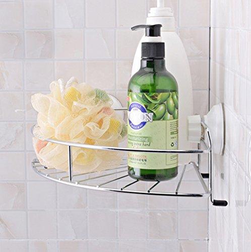 GDrems Stainless Steel Triangle Basket, Corner Basket, Kitchen & Bathroom Storage-Chrome Finish