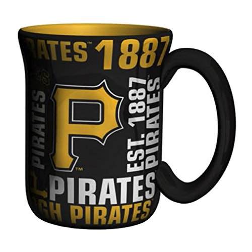 (MLB Pittsburgh Pirates Sculpted Spirit Mug, 17-ounce)