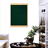 "Soccer Art-Canvas Prints Tactic Diagram Pass Goal Arrangement Attacking Defending Chalkboard Print Paintings Home Wall Office Decor 24""x32"" Dark Green Beige"