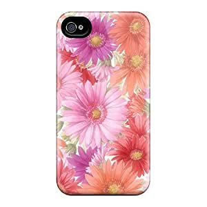 Awesome Design Cluster Of Red Pink Orange Flowers Hard Cases Covers For Iphone 6