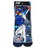 For Bare Feet Toronto Blue Jays Kevin Pillar MLB Player Photo Trading Card Crew Socks