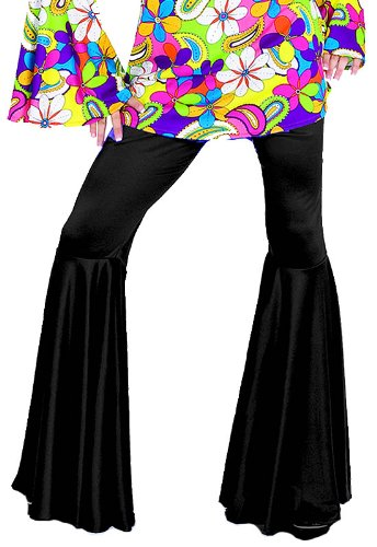 [70's Disco Hippie Pants - Large 14-16] (Seventies Fashion Costumes)