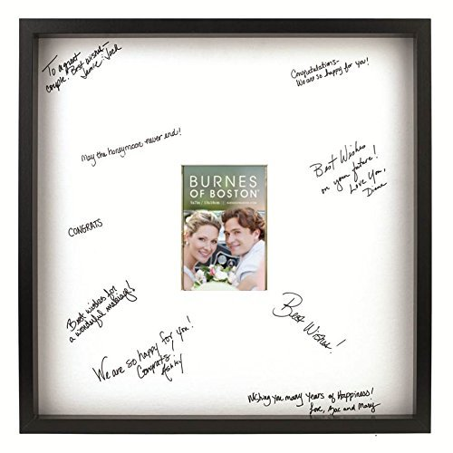 - Burnes of Boston Black Frame with a Signature Mat, 20-Inch by 20-Inch