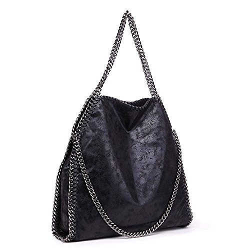 Casual Daily Strap Handbag Leather Shoulder Women Large Chain Use Travel PU Totes for Hobo Bag Shopping 56xFXFwq