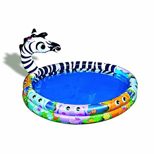 Spring & Summer Toys Banzai Spray 'N Splash Zebra Pool-a Pool, Slide and Sprinkler in One! by Banzai
