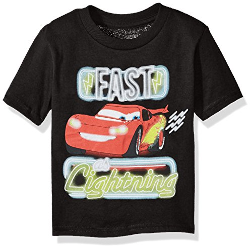 Disney Toddler Boys' Lightning Mcqueen Short Sleeve T-Shirt,