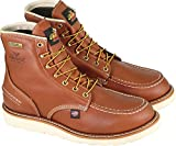Thorogood 814-4600 Men's 6'' Moc Toe, MAXwear Wedge Waterproof Non-Safety Toe, Tobacco - 10 2E US