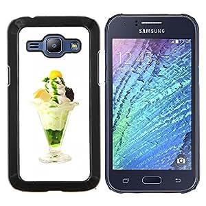 TECHCASE---Cubierta de la caja de protección para la piel dura ** Samsung Galaxy J1 J100 ** --Helado delicioso divertido