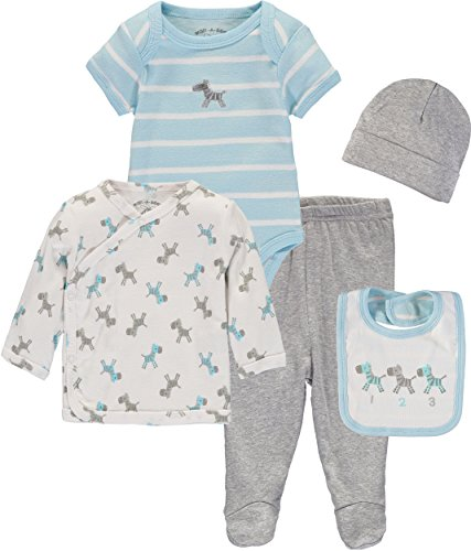 Wan-A-Beez Baby Boys' and Baby Girls' Take Me Home Set. Layette Gift Set For Newborns (Zebra, Newborn)
