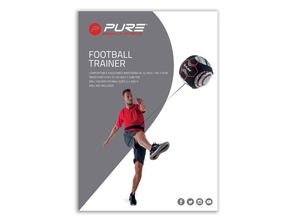 Pure Solo Fútbol Kick Off Trainer con barem Cinturón Regulable ...