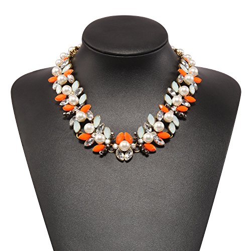 Holylove Statement Necklace for Women Novelty Jewelry Orange with Gift Box-N38