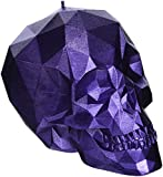 Candellana Candles 5902650675308 Skull Poly Candle, Purple Metallic