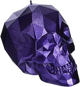 Candellana Candles Skull Poly Candle, Purple Metallic