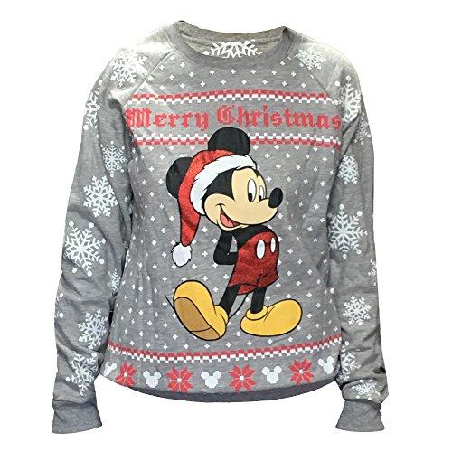 3x Ugly Christmas Sweater.Disney Women S Mickey Mouse Ugly Christmas Sweater Fleece Sweatshirt Plus Size 3x Grey