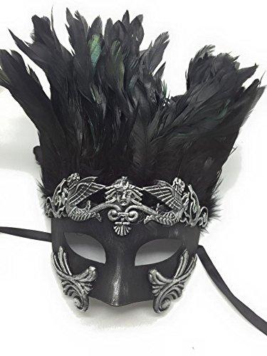 Silver/black Egyptian Greek Roman Mask Venetian Men's Mask Half Face Mask Mardi Gras Venetian Halloween Ball Masquerade Mask -