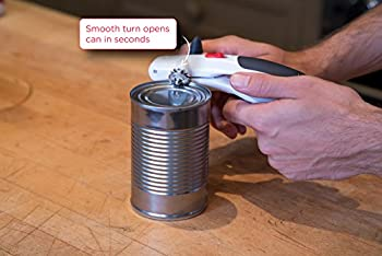 Zyliss Lock N' Lift Can Opener With Lid Lifter Magnet, White 3