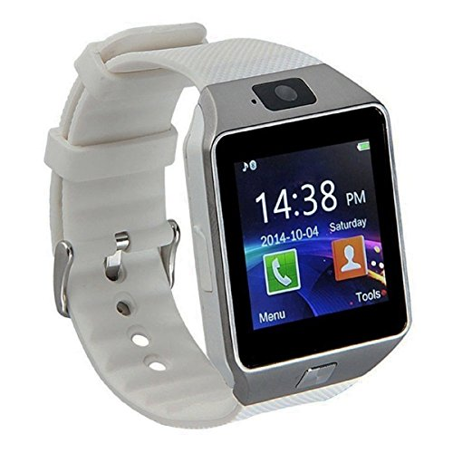 Pandaoo Smart Watch Mobile Phone Unlocked Universal GSM Bluetooth 4.0 Music Player Camera Calendar Stopwatch Sync with Android Smartphones(White) from Pandaoo
