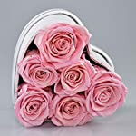 The-Touch-of-Harmony-Real-Luxury-Roses-Preserved-Flowers-Unique-Present-Gift-for-Anniversary-Birthday-Valentines-Day-Mothers-Day-Graduation-Long-Lasting-Lasts-up-to-one-Year-White-Heart-Box-Pink