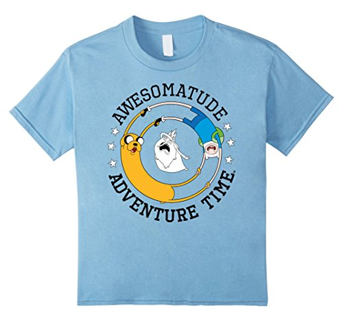 unisex-child Cartoon Network Awesomatude Adventure Time Graphic T-Shirt 12 Baby Blue - Adventure Time Baby Clothes