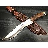 "ASH HKA713-L CUSTOM HANDMADE HUNTING KUKRI KNIFE 440C STEEL 15"""