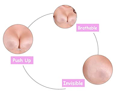 TPU Sexy Backless Strapless Bra Invisible V-shaped Push-up BRA Self Adhesive Bras at Amazon Womens Clothing store: