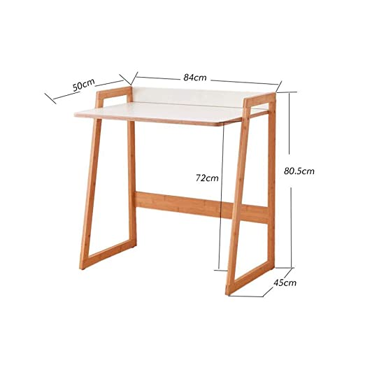 XUERUI Mesas Mesa Bambú Compacto Escritorio Computadora Escritorio ...