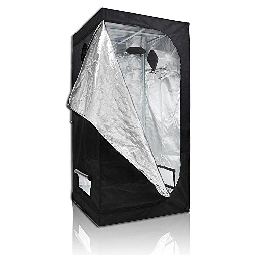 51zqvLR6aQL - 600D Grow Room Tent 100% Waterproof Diamond Mylar Reflective Hydroponic w/Large Window Cabinet Size Option