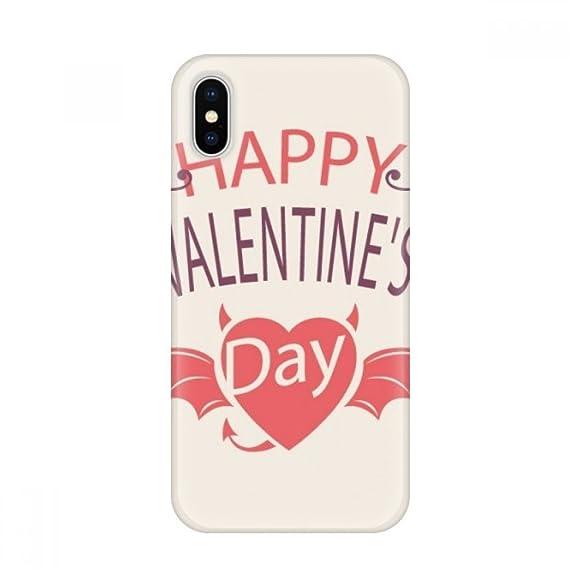 Amazon Com Happy Valentine S Day Heart Devil Wings Apple Iphone X