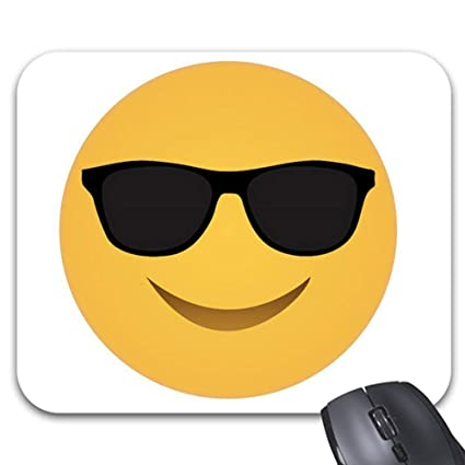 photo relating to Sunglasses Printable identified as : Emoji Sungles Deal with Free of charge Printable Mouse Pad