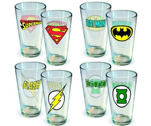 DC Comics Insignia 4pc Pint Glass Set